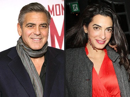 Amal Clooney expose her slim figure in skinny jeans on a date with hubby George Clooney