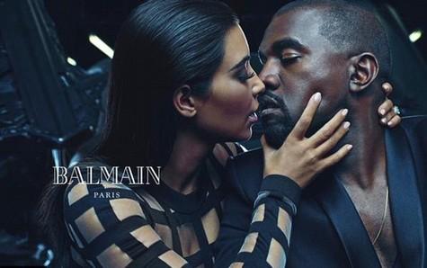 Kim Kanye sticky kiss