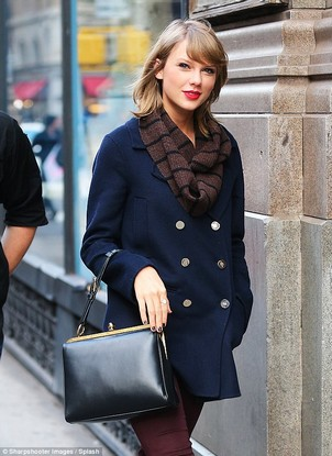 Taylor Swift navy coat
