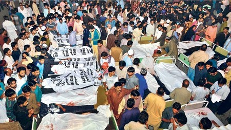 Wagha border Suicide attack