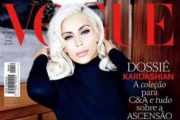 Kim Kardashian Bold Remodeling to Marilyn Monroe for Sensual Vogue Brazil Shoot