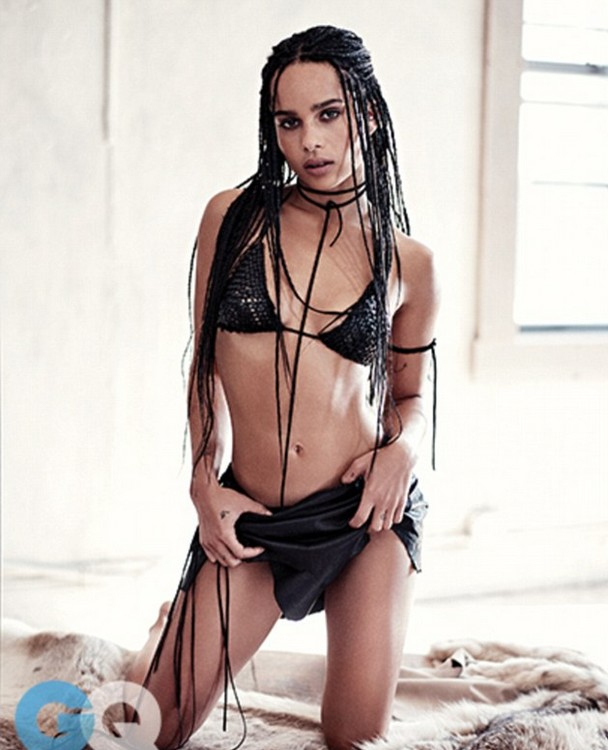 Zoe Kravitz Confidently Concealed In Racial Bikinis for GQ