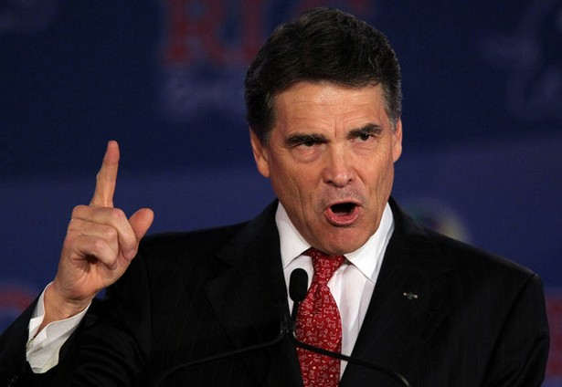American's agree with Rick Perry point of view of having president who served military