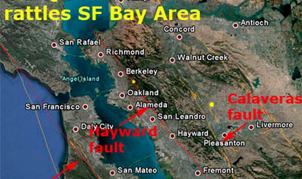 Massive Earthquake on the Boundaries of Hayward Fault