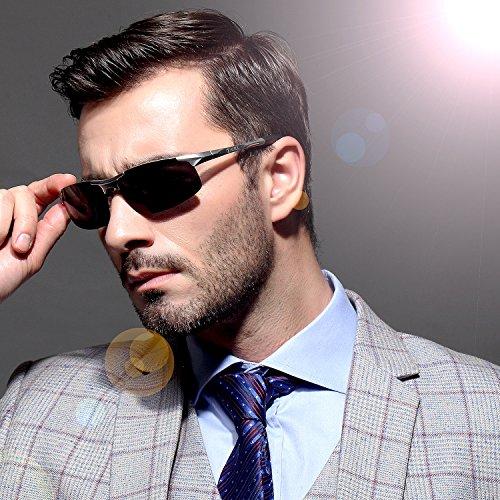 mens polarized sunglasses 39vt  Duco Men's Sports Style Polarized Sunglasses