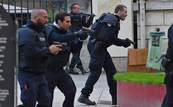 French Police raid north Paris suburb
