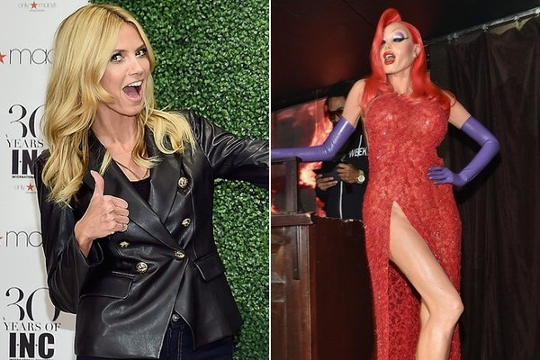 Heidi Klum Converted into Jessica Rabbit for Halloween 2015