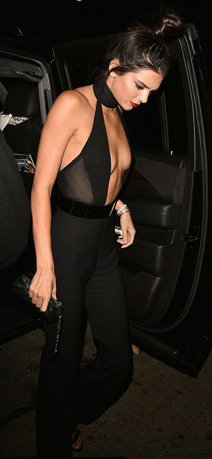 Kendall Jenner shows chest and torso on her 20th birthday