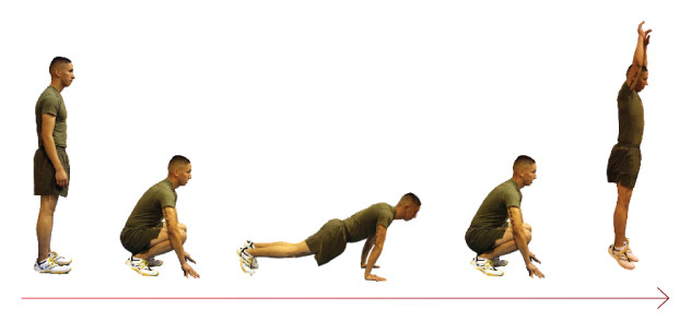 Simple Exercises For a Quick Weight Loss Burpees and squats
