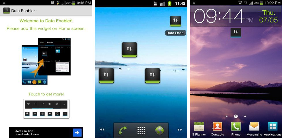 Top 10 Free Android Widgets Data Enabler Widget