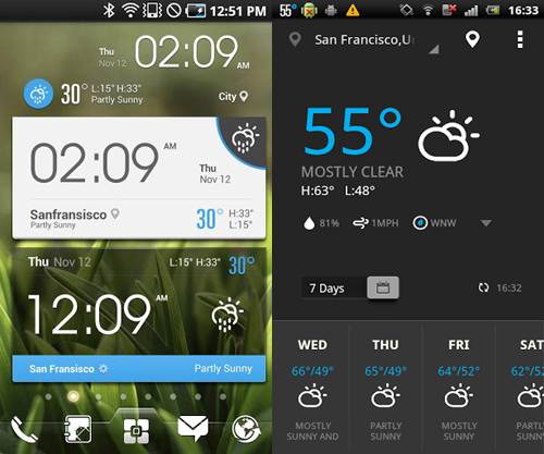 Top 10 Free Android Widgets weather