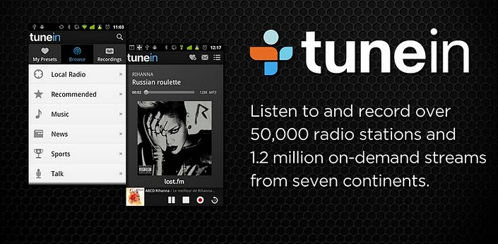 Top Paid Android Apps TuneIn radio Pro