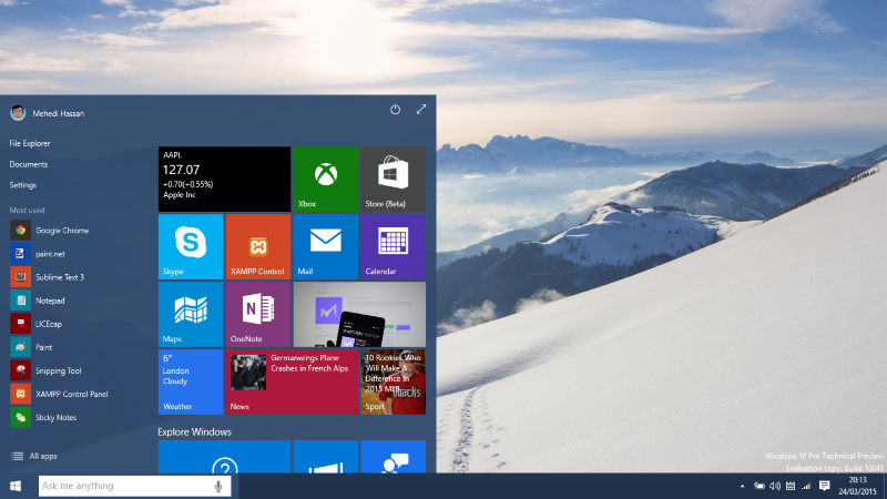 Windows 10 System Requirements resolution
