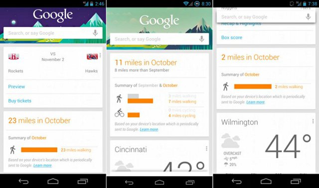 Android Lollipop vs. Marshmallow Google Now