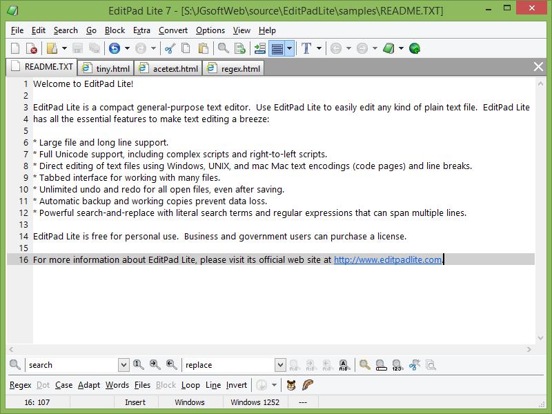 Best Code Editors for Windows EditPad Lite
