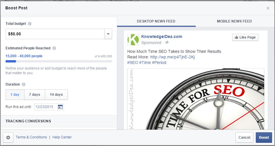 How To Boost Your Facebook Ads boost cost