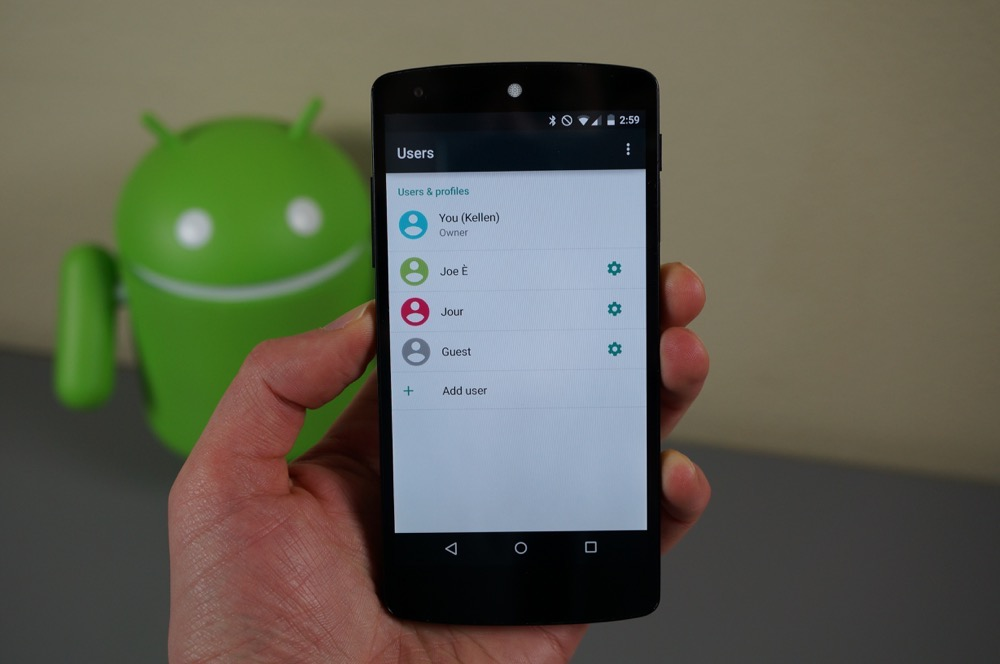 Review of Android Lollipop Features Guest User