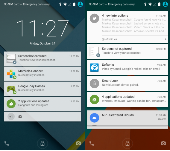 Review of Android Lollipop Features Notifications
