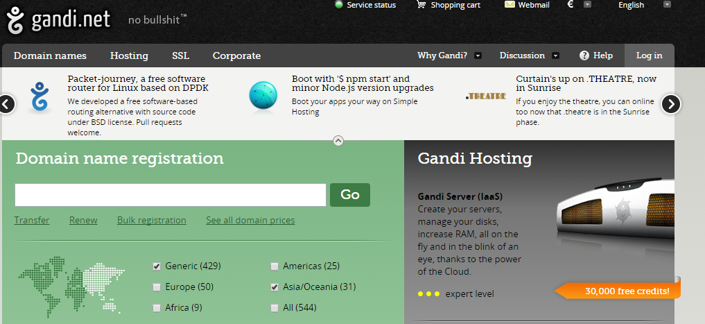The Best Places to Buy a Domain Name gandi