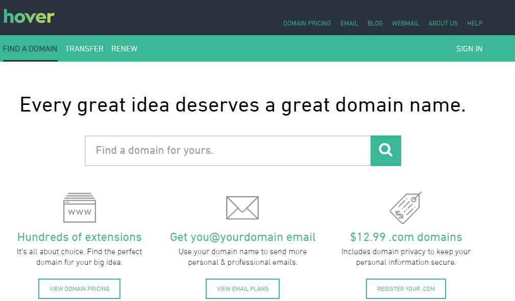 The Best Places to Buy a Domain Name hover