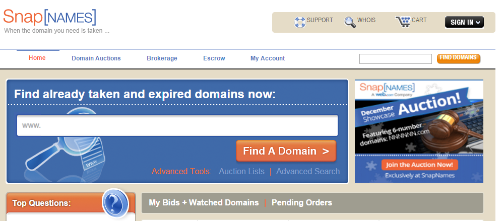 The Best Places to Buy a Domain Name snapnames