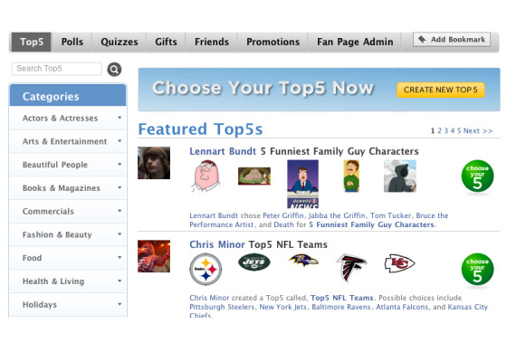 Top 10 Apps for Facebook Fan Pages FanAppz