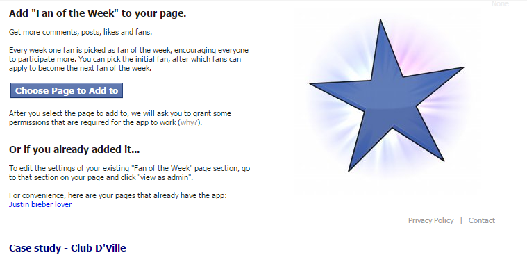 Top 10 Apps for Facebook Fan Pages fan of the week