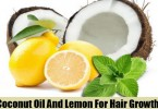 Coconut Oil & Lemon Juice Help to Promote Hair Growth