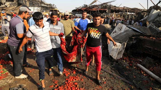 Dozens dead in ISIS suicide attack on Baghdad image