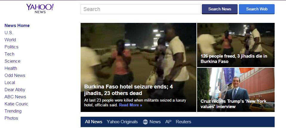 Google News VS Yahoo News Comparison yahoo