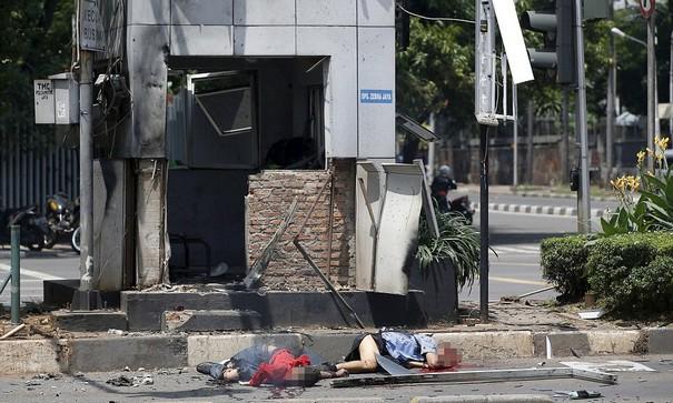 Terrorists attack in Jakarta