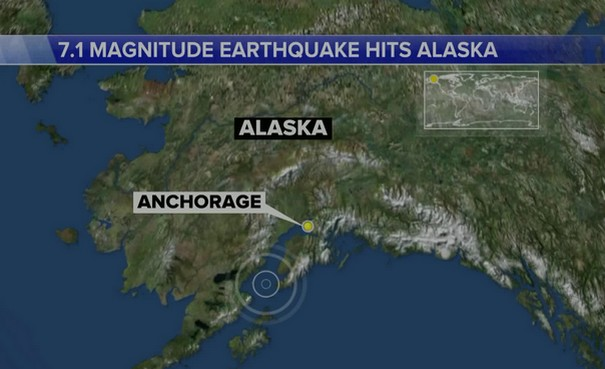 Magnitude 7.1 Alaska Earthquake Reported