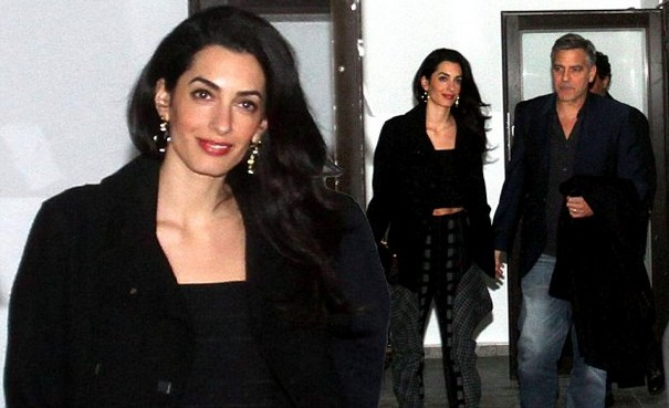Amal Clooney shows her perfect abs on Berlin date with George