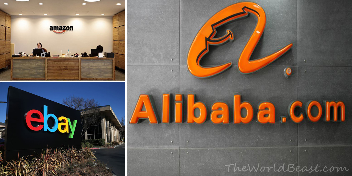 Amazon vs eBay vs Alibaba