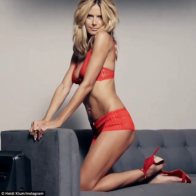 Heidi Klum Proves that She is the Perfect Model for Her Own Collection