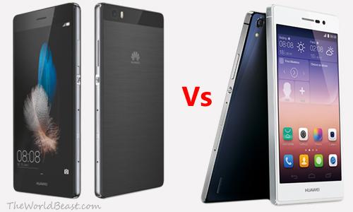 Huawei Ascend P7 vs Huawei P8 Lite Image