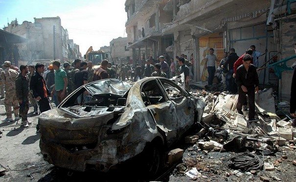 ISIS Bombs Rip through Damascus and Homs Killing Dozens of People