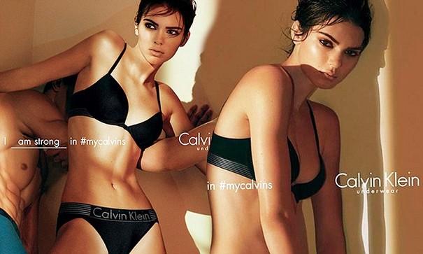 Kendall Jenner Calvin Klein underwear ad