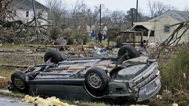 Powerful Tornadoes struck US East Coast