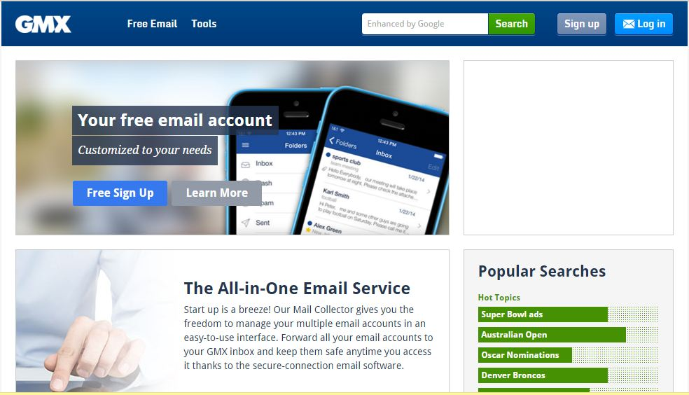 World Top Free Email Service Providers in 2016 GMX