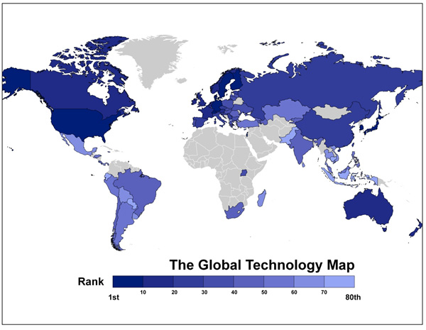World Top Growing Technology Countries 2016