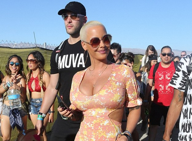 Amber Rose hits Coachella in outfit from floral maxi dress collection