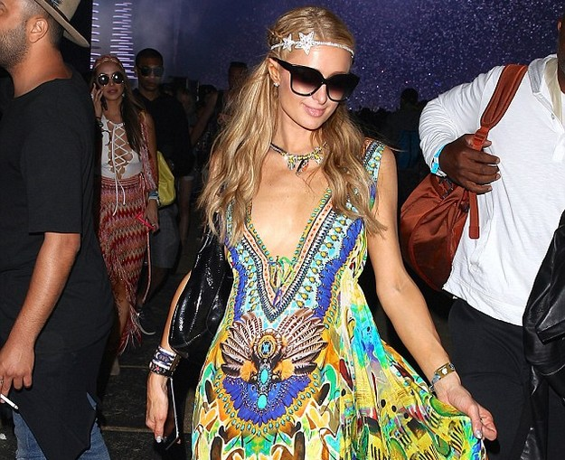 Paris Hilton turns up for Coachella 2016 in a shocking Maxi Dress