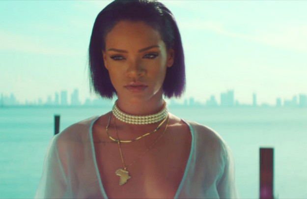 Rihanna's New Video sees her in a Sheer Lace Dress