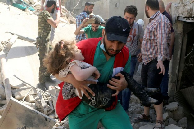 Airstrikes in Syria Aleppo Targets Civilians