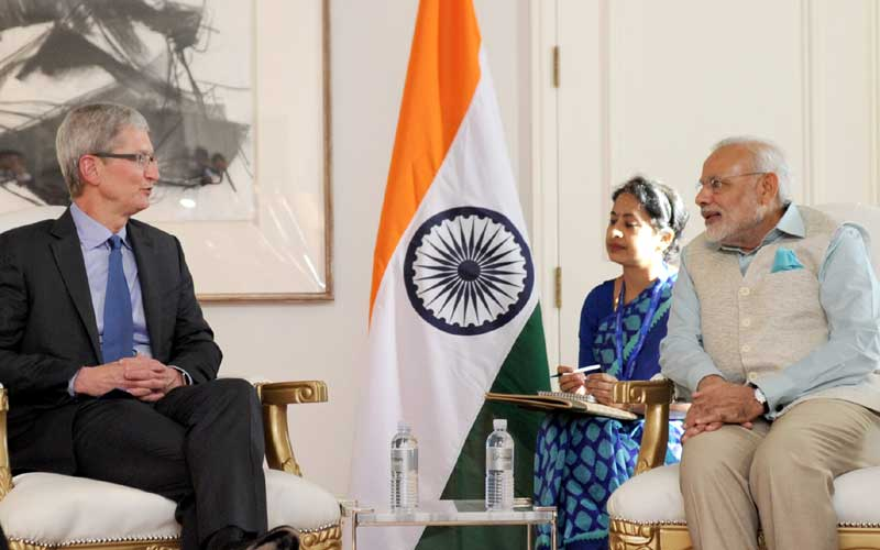 Apple CEO Tim Cook and Indian PM Narendra Modi will meet this week