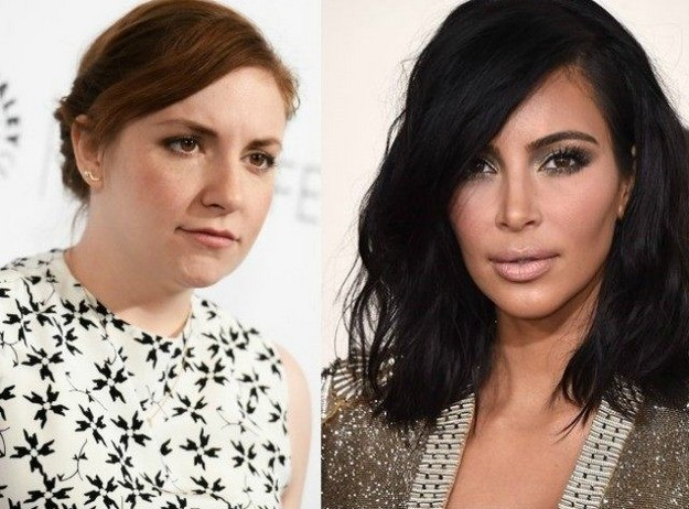 Lena Dunham sides with Kim Kardashian over nude selfies row