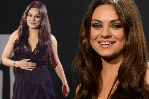 Pregnant Mila Kunis Attends the Premiere of her Upcoming film