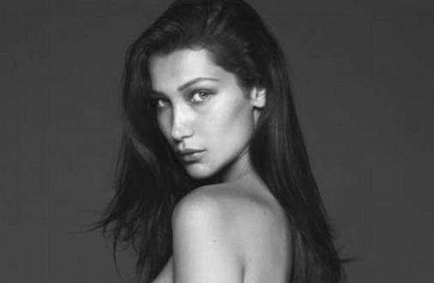 Topless Bella Hadid