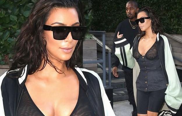 Kim Kardashian sheer top dress